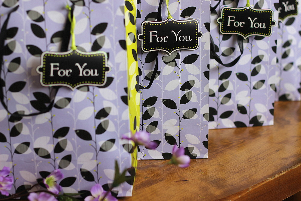 Gift bags for my girls | Kaleidoscopes & Polka Dots