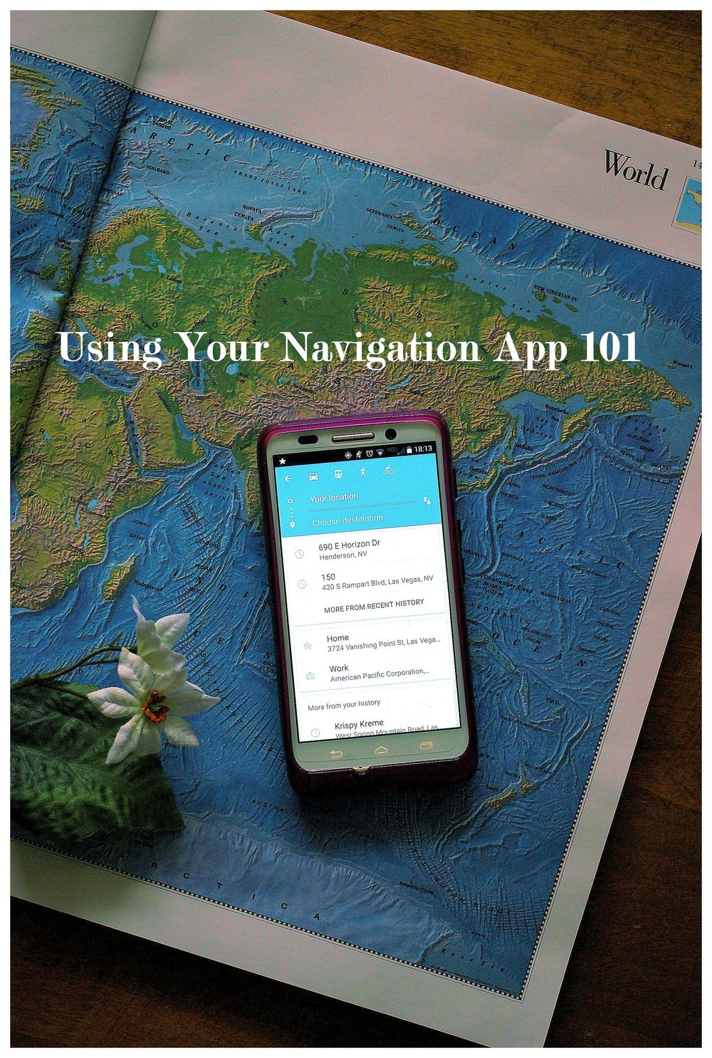 7 tips for using your navigation app by Kaleidoscopes & Polka Dots
