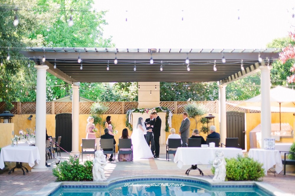 A view from afar of our ceremony // Kaleidoscopes And Polka Dots