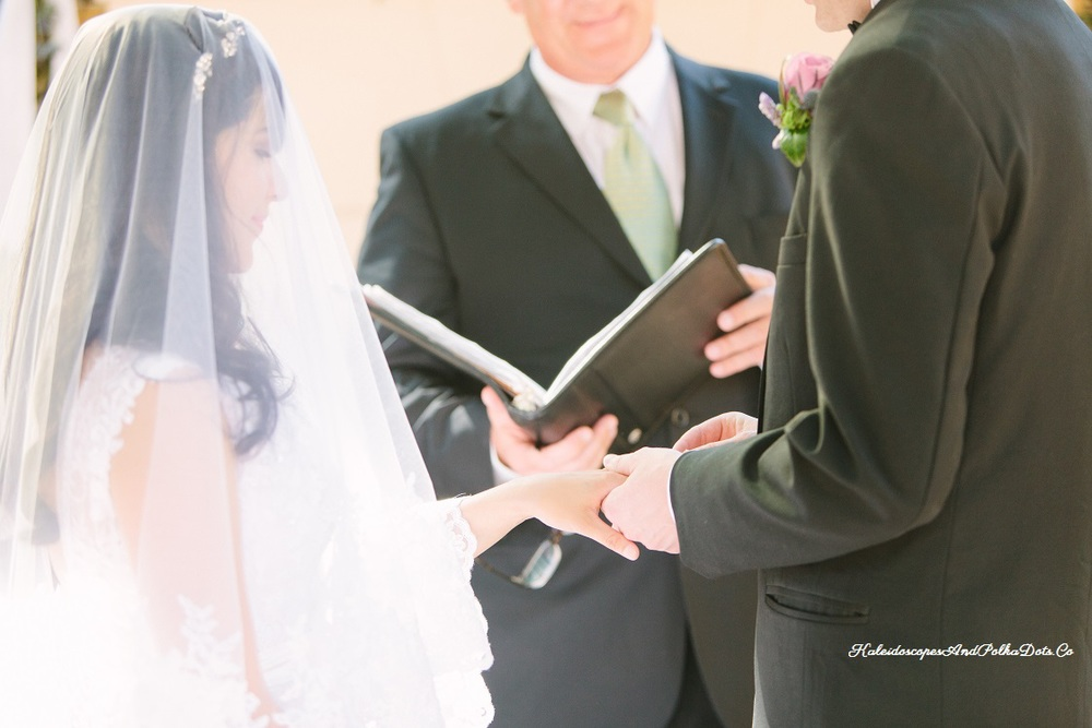 Our lovely ceremony // Kaleidoscopes And Polka Dots