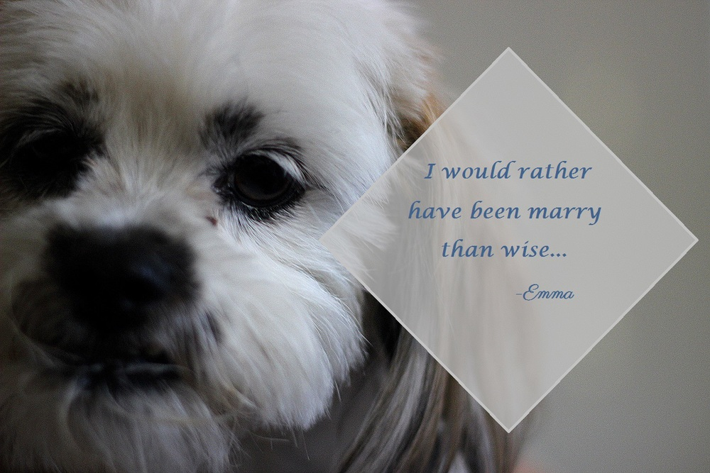 """...I would rather be marry than wise...""--when plans go astray, wouldn't we all wish the same? i know I would..."