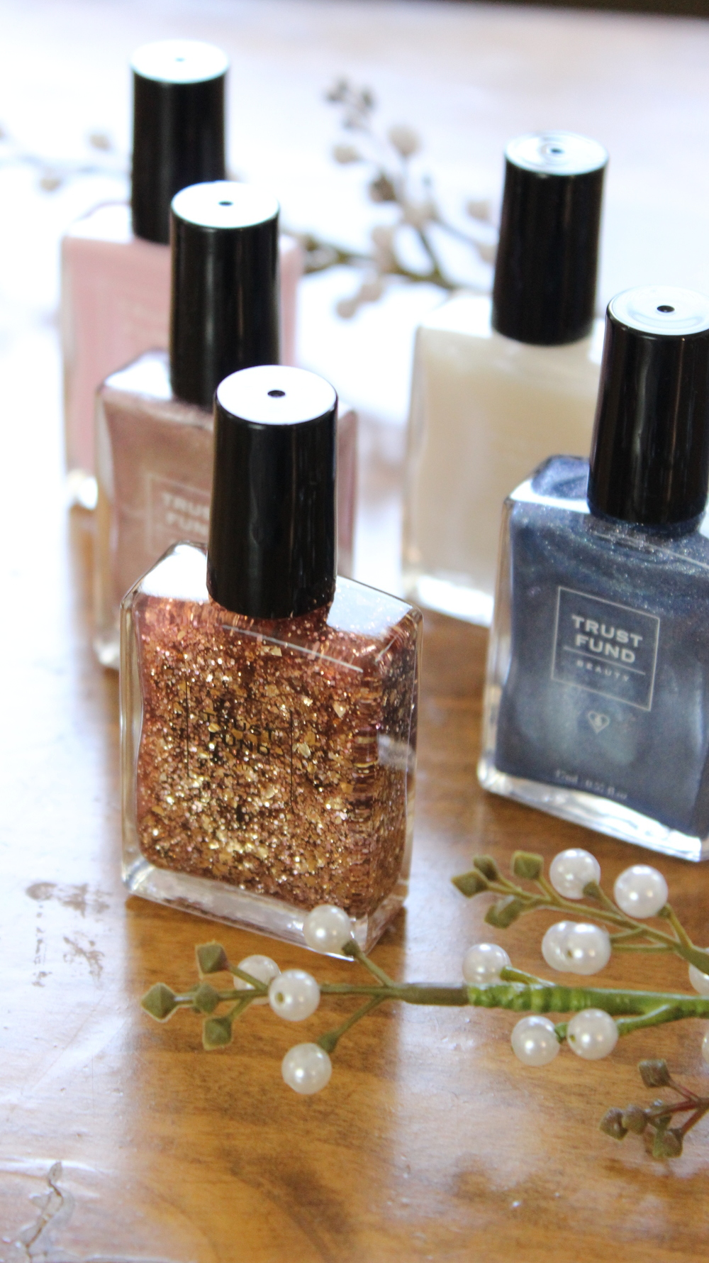 Just a few of the beautiful Trust Fund Beauty nail polish options.