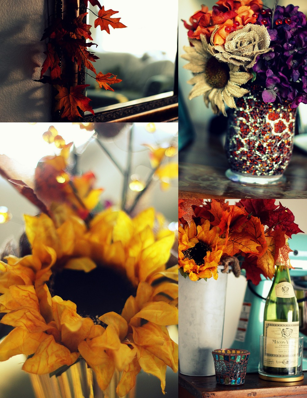 Splashes of fall decor
