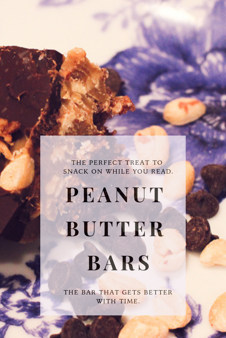 Peanut Butter Bars - a fabulous treat that gets better with time. #recipe #delish #chocolatetreats #nuttygoodness