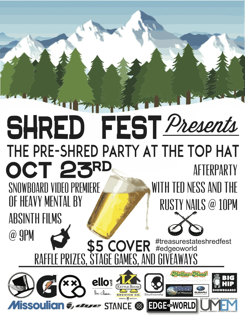 Shred Fest -  Missoula, Montana  -  Oct 23  #edgeoworld