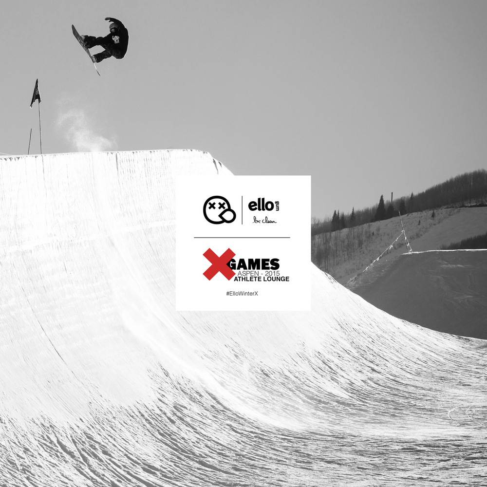 Ello will be at the Winter X Games in Aspen Colorado. January 21-25 2015.  See you in the athlete lounge. #ElloWinterX