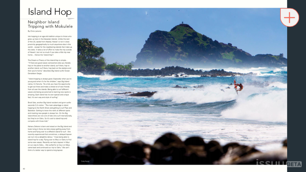 Cody Young double page spread in FreeSurf kid is killing it!