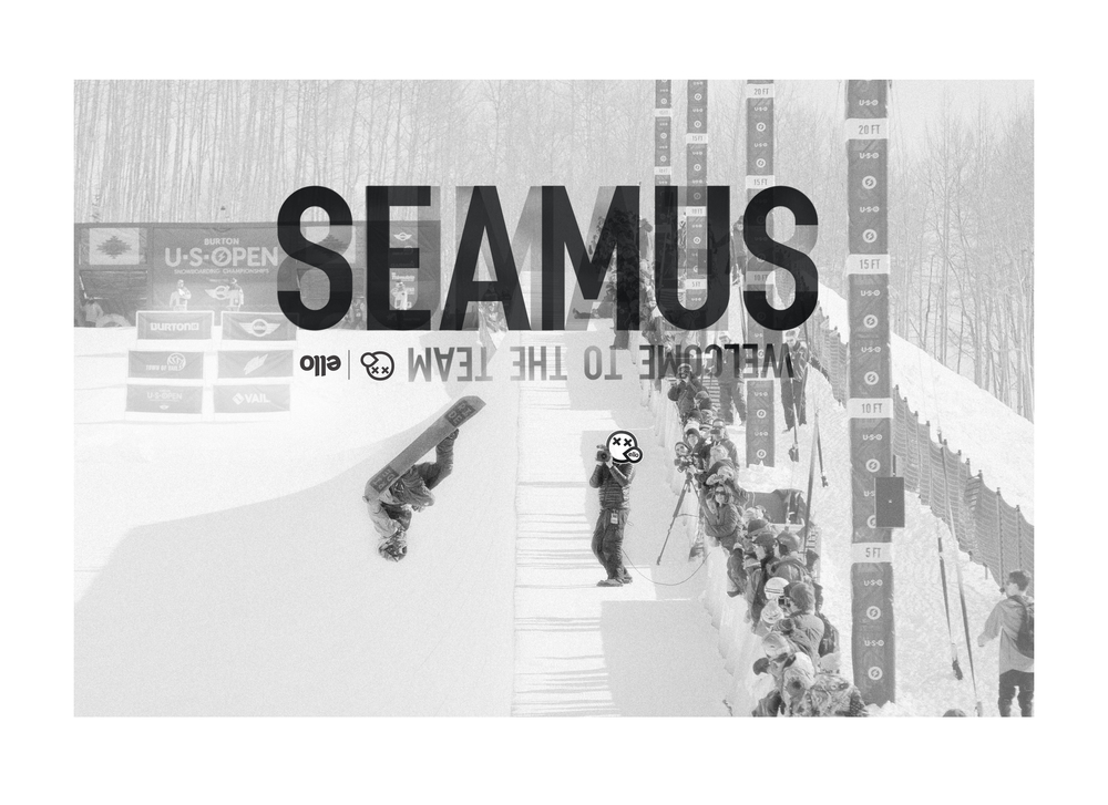 "WELCOME ABOARD SEAMUS! TO SEE MORE THINGS YOU WILL NEVER DO ON A SNOWBOARD FOLLOW SEAMUS O""CONNER @SEAMUSOCONNOR"