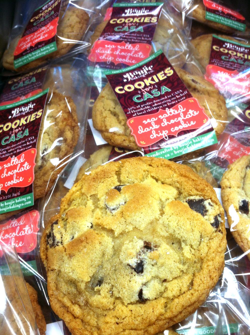 Sea Salted Dark Chocolate Chip Cookies