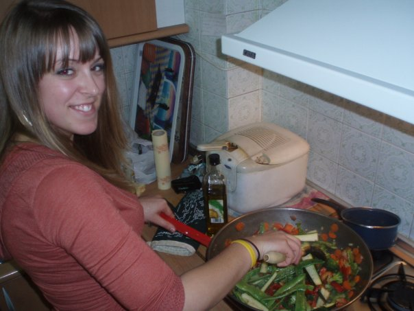 Cooking up a feast for newfound friends in Granada, Spain (2007)