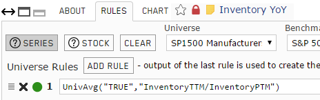 Screenshot of Inventory Year-over-Year custom series rules