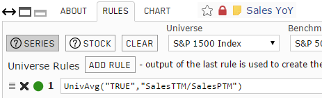 Screenshot of Sales Year-over-Year custom series rules
