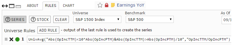 Screenshot of Earnings Year-over-Year custom series rules