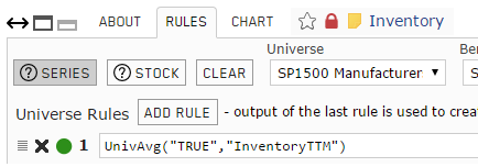 Screenshot of Inventory custom series rules