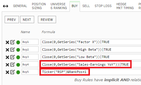 Business Cycle simulation new Buy rule(s)