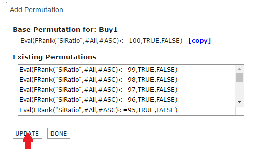 Permutations for the Buy rule are added
