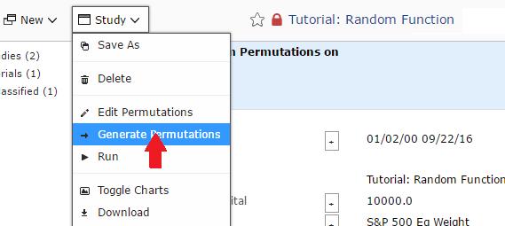Generate the Optimizer permutations by clicking on Generate Permutations from the Study pull-down menu