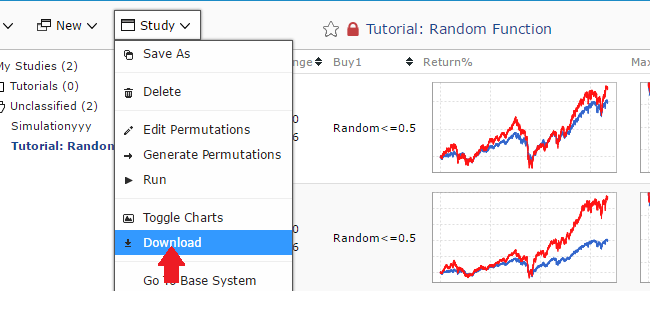 Download the completed optimizer results into EXCEL.