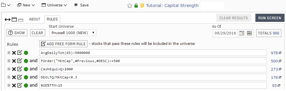 Custom stock universe constructed in Part 1 of the Capital Strength Stock Portfolio tutorial