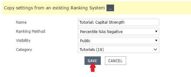 Naming and saving the ranking system