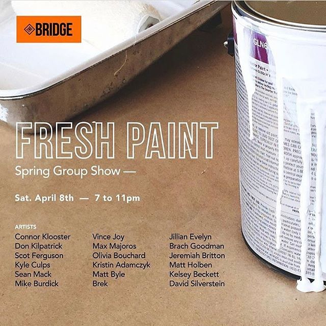Super grateful to be included in the Fresh Paint group show, this Saturday in Detroit. Hosted by @thebridgedet and @artbywesley. Detroit people, definitely go check it out!