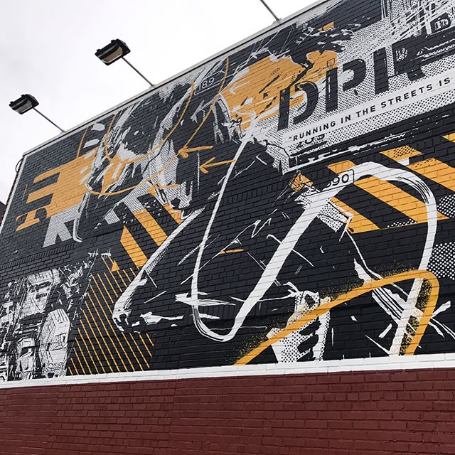 New mural for @adidasrunning is up now on Johnson Ave & Bushwick Place in Brooklyn. Huge thanks to @samm for the opportunity & to @colossalmedia for the awesome execution. #alwayshandpaint #adidas #adidasrunning #pureboostDPR