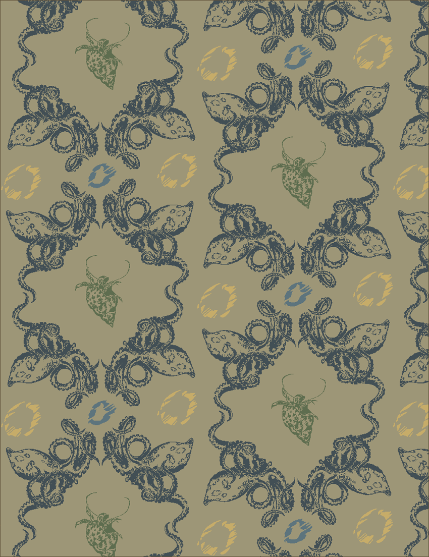 Another textile design. Again, watermarked images will be available en masse under their own heading soon. 2013.