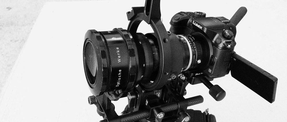 Rectimascop 48/2x II Anamorphic Lens + Nikon Nikkor 50mm f1.8 + GH3