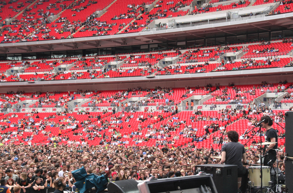 Shy Child   Opening for Muse  Wembley Stadium, London   2007  ​