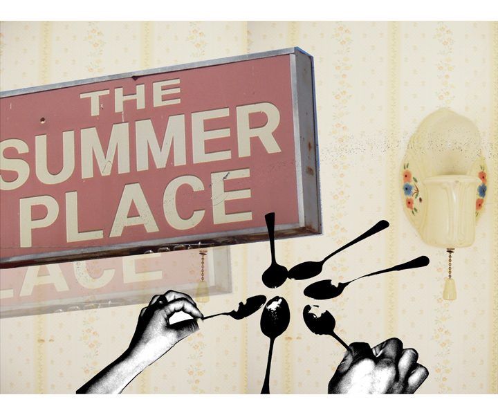 The Summer Place, 2005   Digital photo collage  20x24