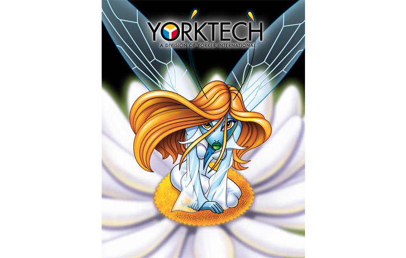 Sales catalog for Yorktech, a t-shirt manufacturer and screen printer based in China.