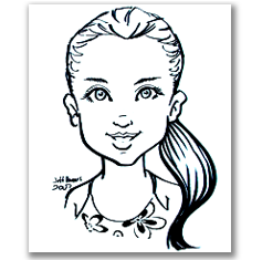 Basic B&W caricature portrait by jeffrey d. harris
