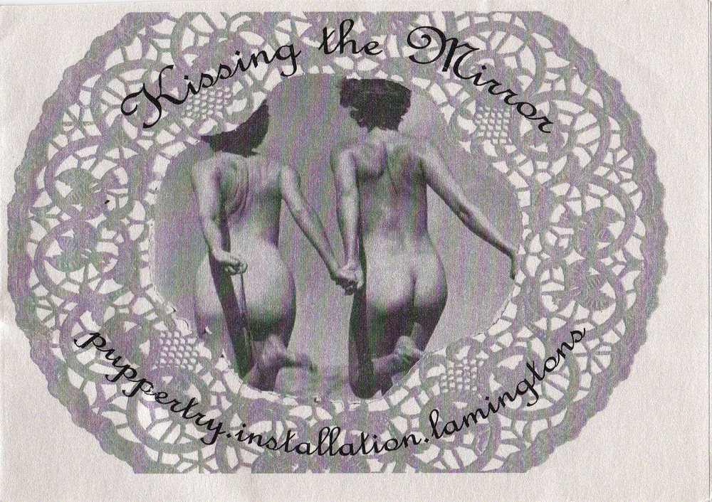 My Darling Patricia's  Kissing the Mirror  invitation designed by Jade Markham