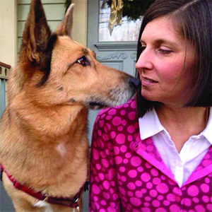 Amy Ellis' pooch is pretty sure Valentine's Day involves lots of treats and hour-long cuddles.