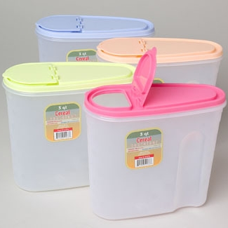 Containers for dog food. Found at local dollar store.