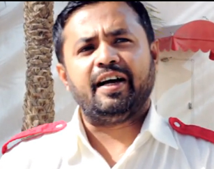 This is Moshur Ramin. He has been driving taxi's in Dubai for 2 years and wants to took after his health.