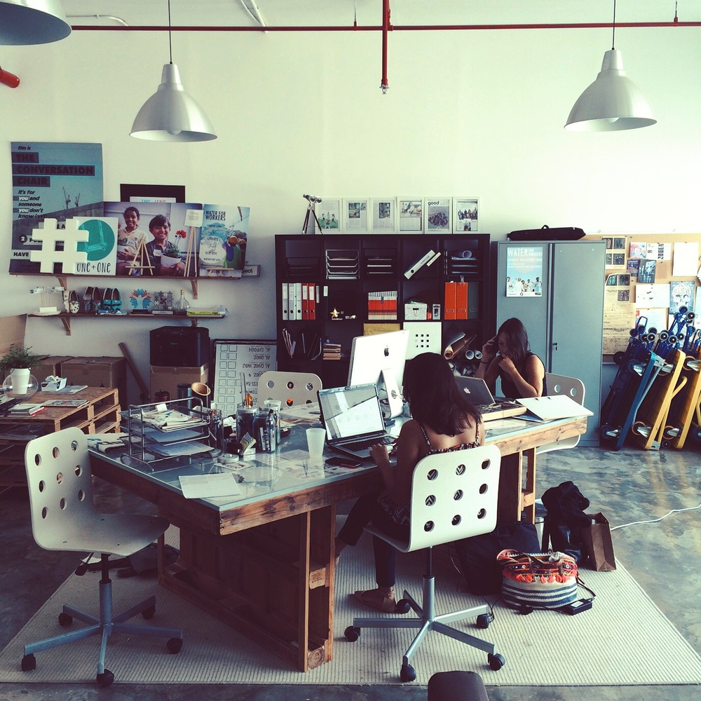 home base // headquarters // our office