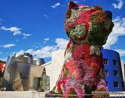 Puppy by Jeff Koons - Guggenheim Museum Bilbao, Spain