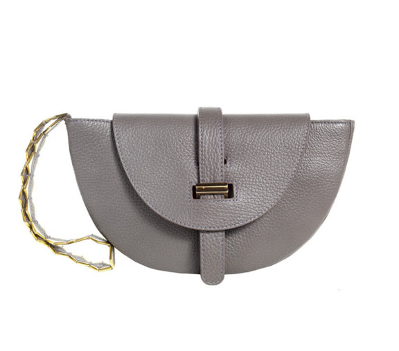 Thela Evening Clutch in Charcoal