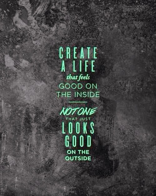Quote Create a life that feels good girl loves life.jpeg