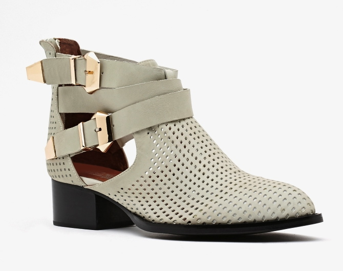 Jeffrey Campbell - Everly in Bone Perforated $205