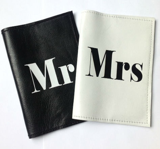 honeymoon gift ideas for both, passport holders with initials, personalized passport holders, mr and mrs passport holders, passport holders for newlyweds, fashion passport holder, wedding gift passport holder