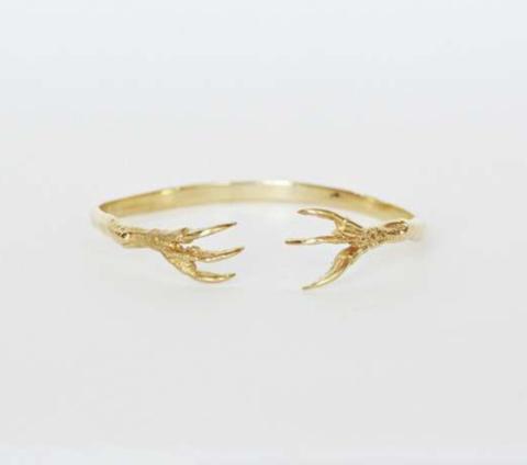 gold claw bracelet, talon bracelet, bracelet with talons, birds claw bracelet, women's gold bird bracelet, talon jewelry, gold talon jewelry
