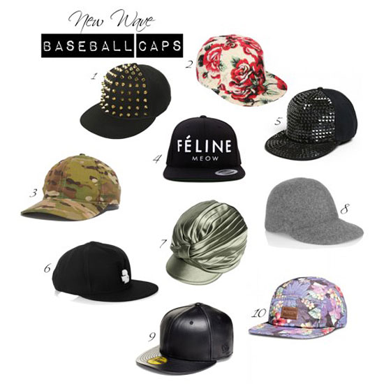 womens baseball caps and hats, fashionable baseball hats, trendy baseball caps and hats, feminine baseball hats, baseball hats on fashion runway