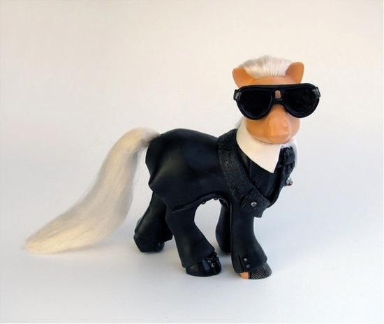 Karl Lagerfeld My Little Pony, My Little Karl Lagerfeld, Mari Kasurinen My Little Pony Art, My Little Pony Pop Culture, Karl Lagerfeld Pop Culture
