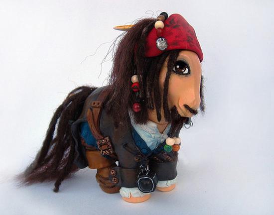 Jack Sparrow My Little Pony, My Little Jack Sparrow, Mari Kasurinen My Little Pony Art, My Little Pony Pop Culture, Jack Sparrow Johnny Depp Pop Culture, Disney My Little Pony