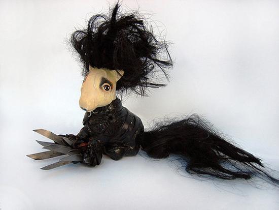 Edward Scissorhands My Little Pony, My Little Edward Scissorhands, Mari Kasurinen My Little Pony Art, My Little Pony Pop Culture, Edward Scissorhands Pop Culture