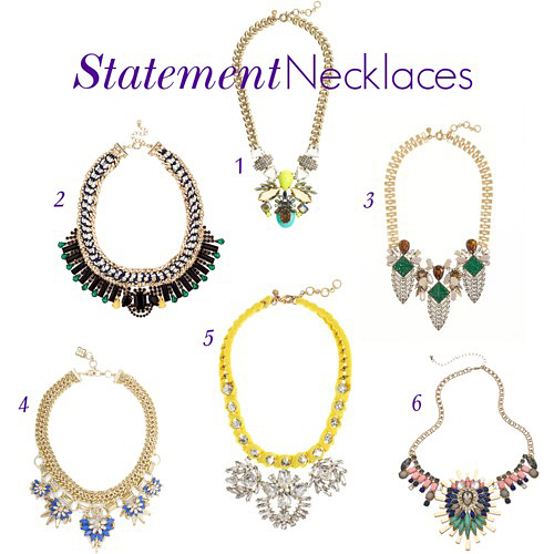chunky statement necklaces, fashion statement necklaces, j crew statement necklaces, j crew large necklaces, crystal statement necklace, collar necklace, best statement necklaces, stylish statement necklaces, blogger statement necklace, blogger favorite necklaces, yellow statement necklace, gold statement necklace, bcbg statement necklace, girl loves style