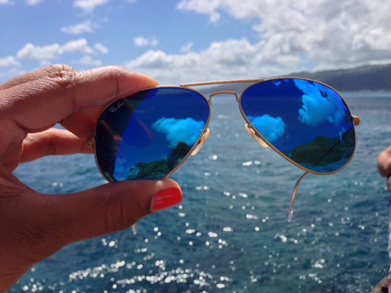 hawaii sunglasses, ray ban pictures, blue mirror ray ban sunglasses, new ray ban blue sunglasses, women's ray ban sunglasses blue, what to wear in hawaii, island style hawaii, best travel blogs, top travel bloggers, best travel blogs, girl loves travel blog, nail polish color for island vacation