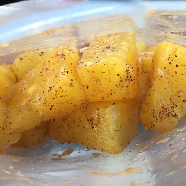 💚🍍 Very Southern California appropriate Chile Limon #Pineapple from @ink.sack 😛😛😛 y u m